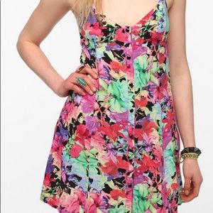 Insight floral snap dress with pockets